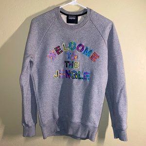 Markus Lupfer Jungle embroidered sweatshirt Grey